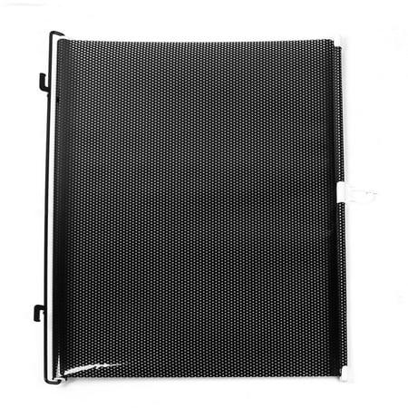Unique BargainsSilver Tone Dot Design Vinyl Furl Guard Sun Shade 50 x 130cm for Auto (Plastic Nose Guard For Sun)
