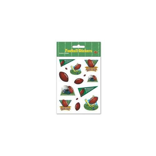 Beistle - 54032 - Game Day Football Stickers- Pack of 12