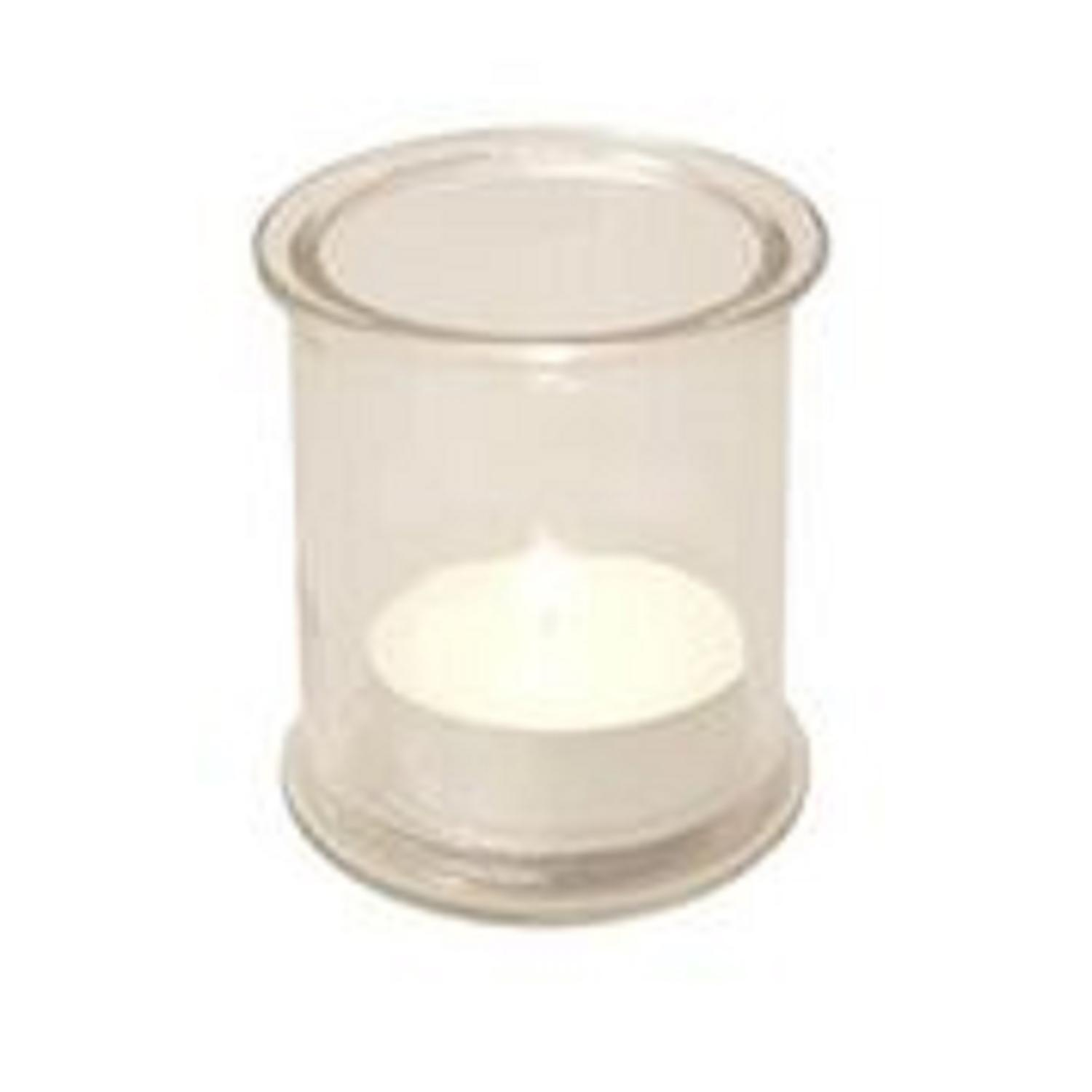 12 White Mega Outdoor Patio Garden Citronella Tealight Candles With 4  Holders