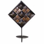 Aesthetic Stone Metal Decoration, Brown