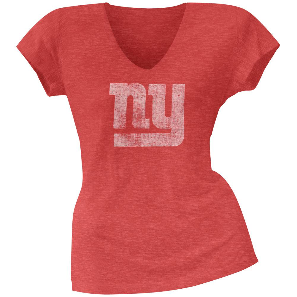 New York Giants - Scrum Logo Premium Juniors V-Neck T-Shirt
