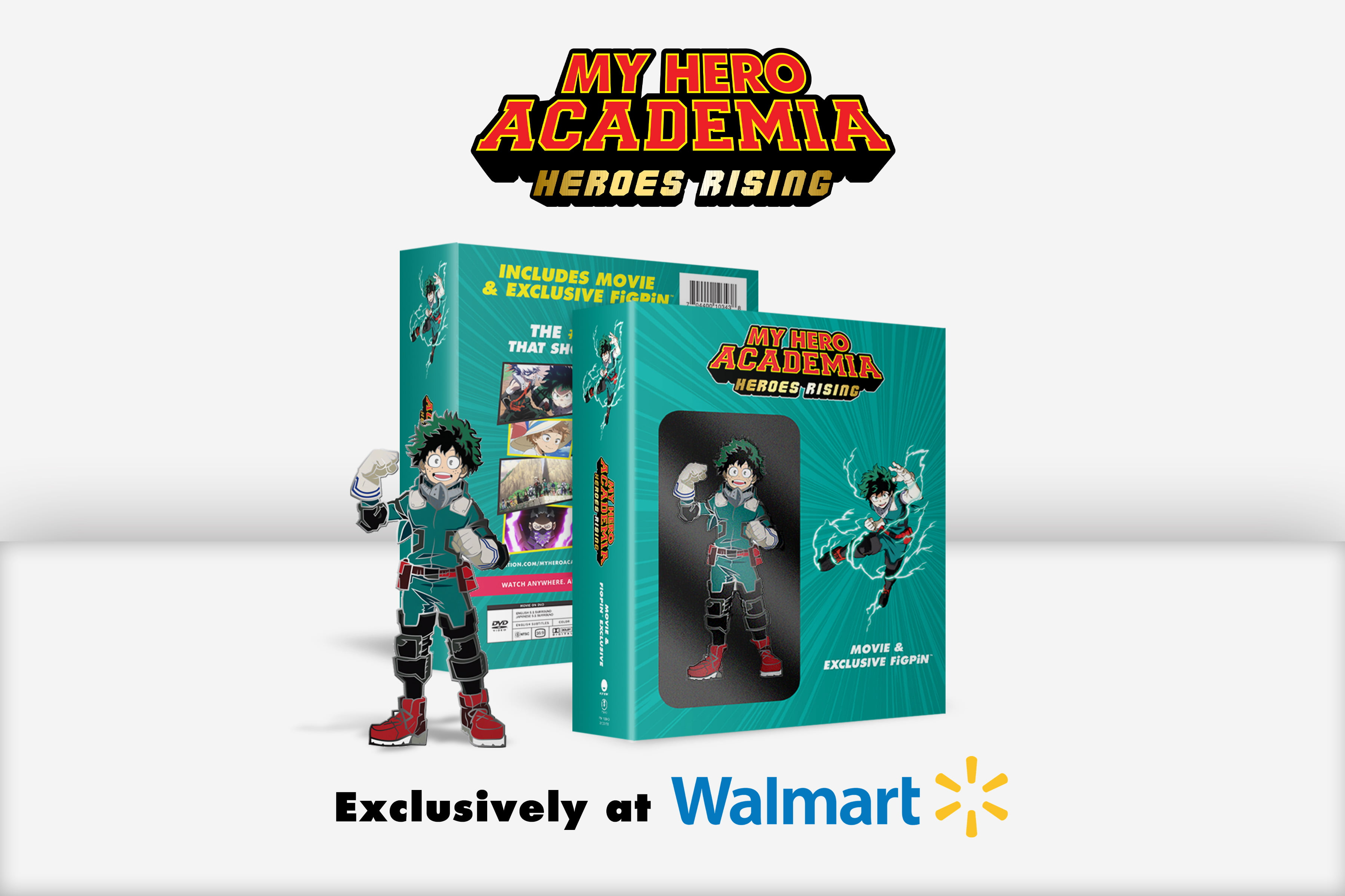 My Hero Academia Heroes Rising Walmart Exclusive Blu Ray Dvd Digital Copy Deku Figpin Walmart Com Walmart Com