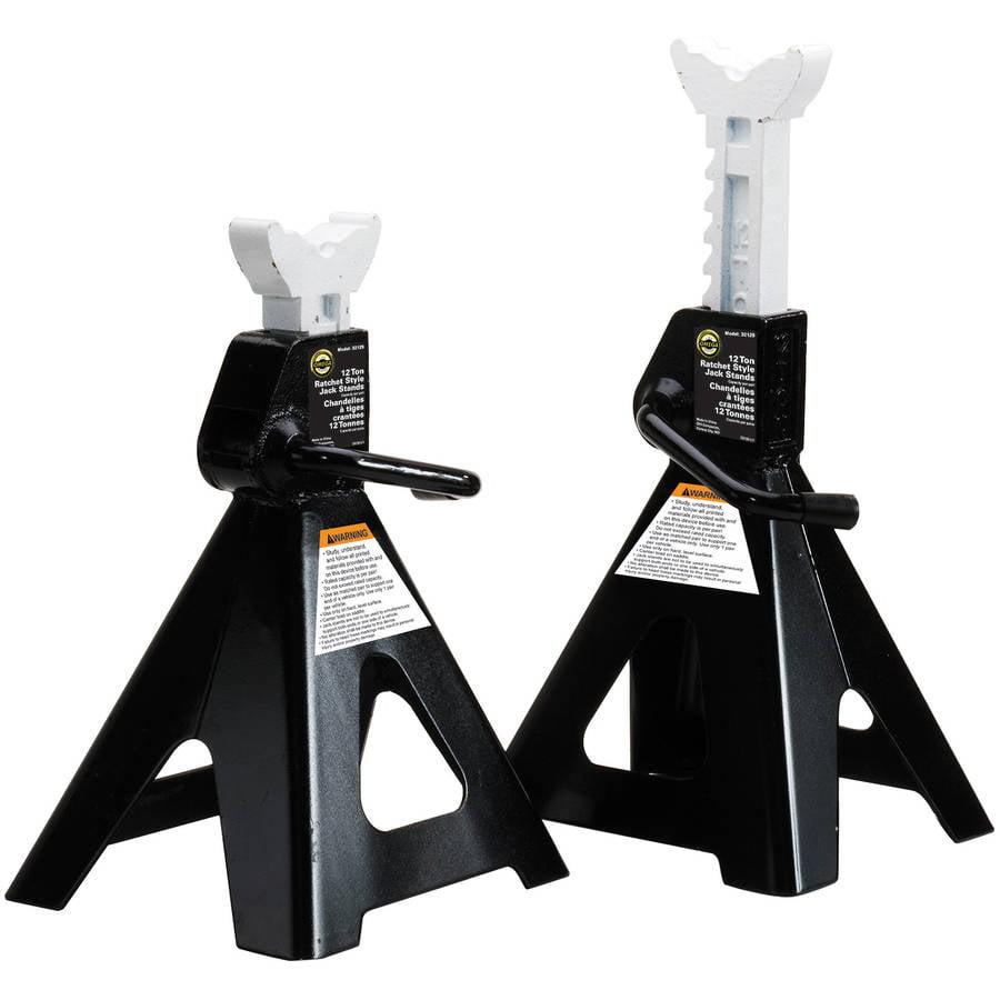 Omega 32125B Black Jack Stand, 12 Ton Capacity