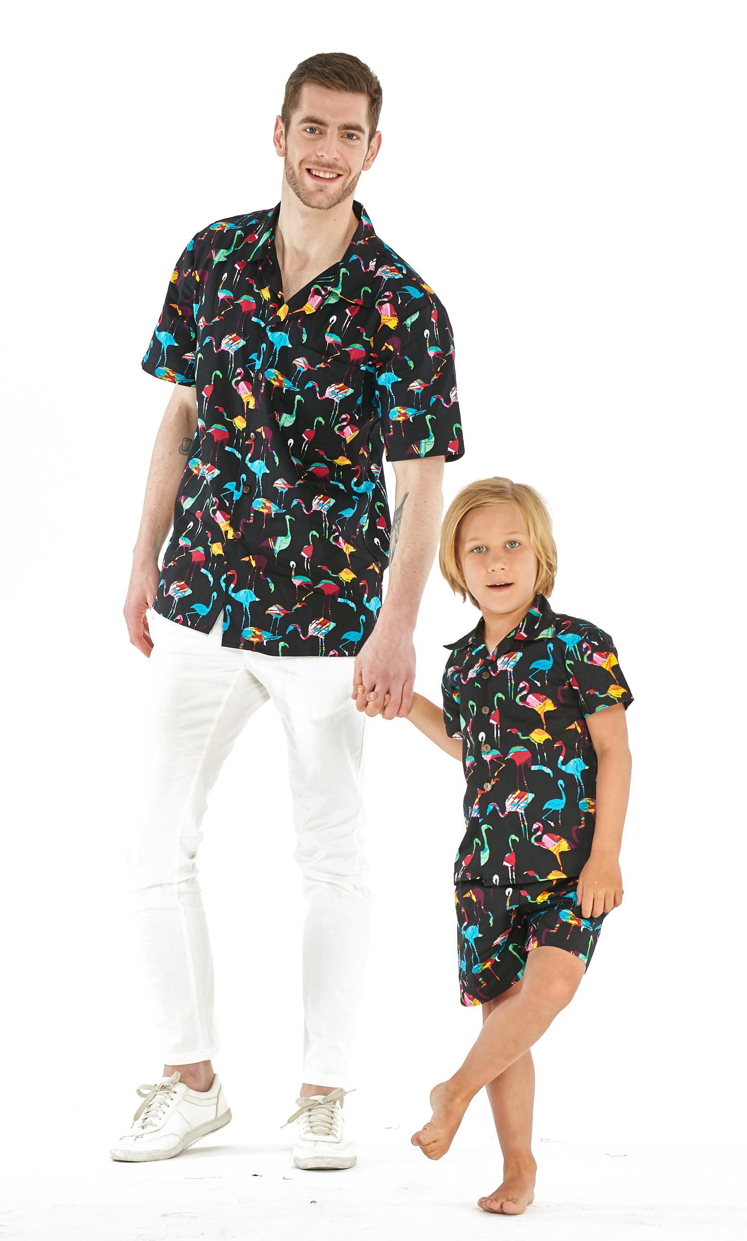 Hawaii Hangover Boy Cabana Set Shirts and Shorts Set In Day Dream Bloom White