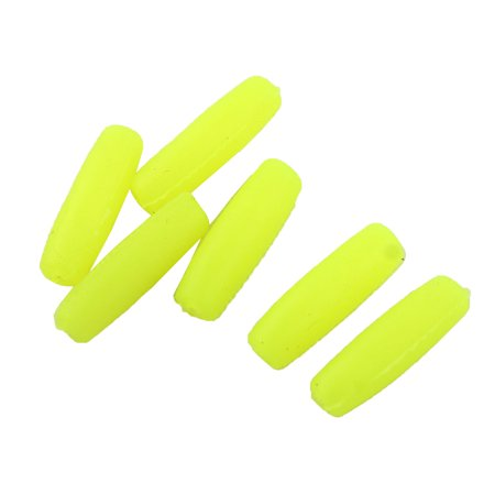 - Rubber Fisherman Terminal Soft Bobber Stopper Attractive Luminous Lure Fishing Beads 6pcs Yellow