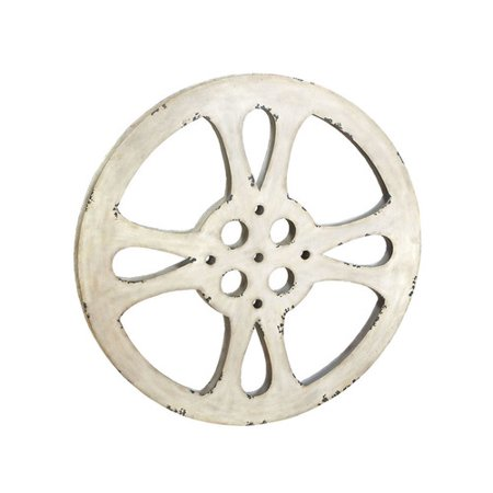 EC World Imports Hollywood Vintage 42'' Metal Film Reel Home Movie Theater Accent Art Wall Decor - Film Reel Decor