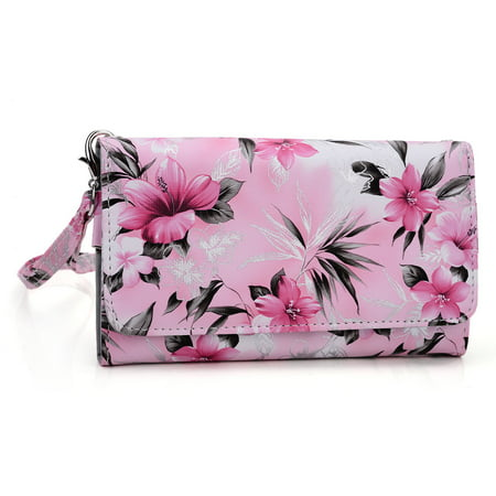 brand new ddee6 15e4a Wristlet wallet with cell phone holder