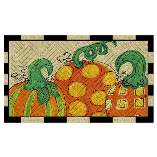 Evergreen Enterprises, Inc Fall Pumpkins Embossed Floor Mat