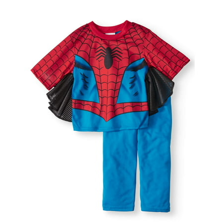 Spider-Man Short Sleeve Costume Play Pajamas, 2-piece Set (Toddler Boys) (Toddler Spiderman Costume 3t)