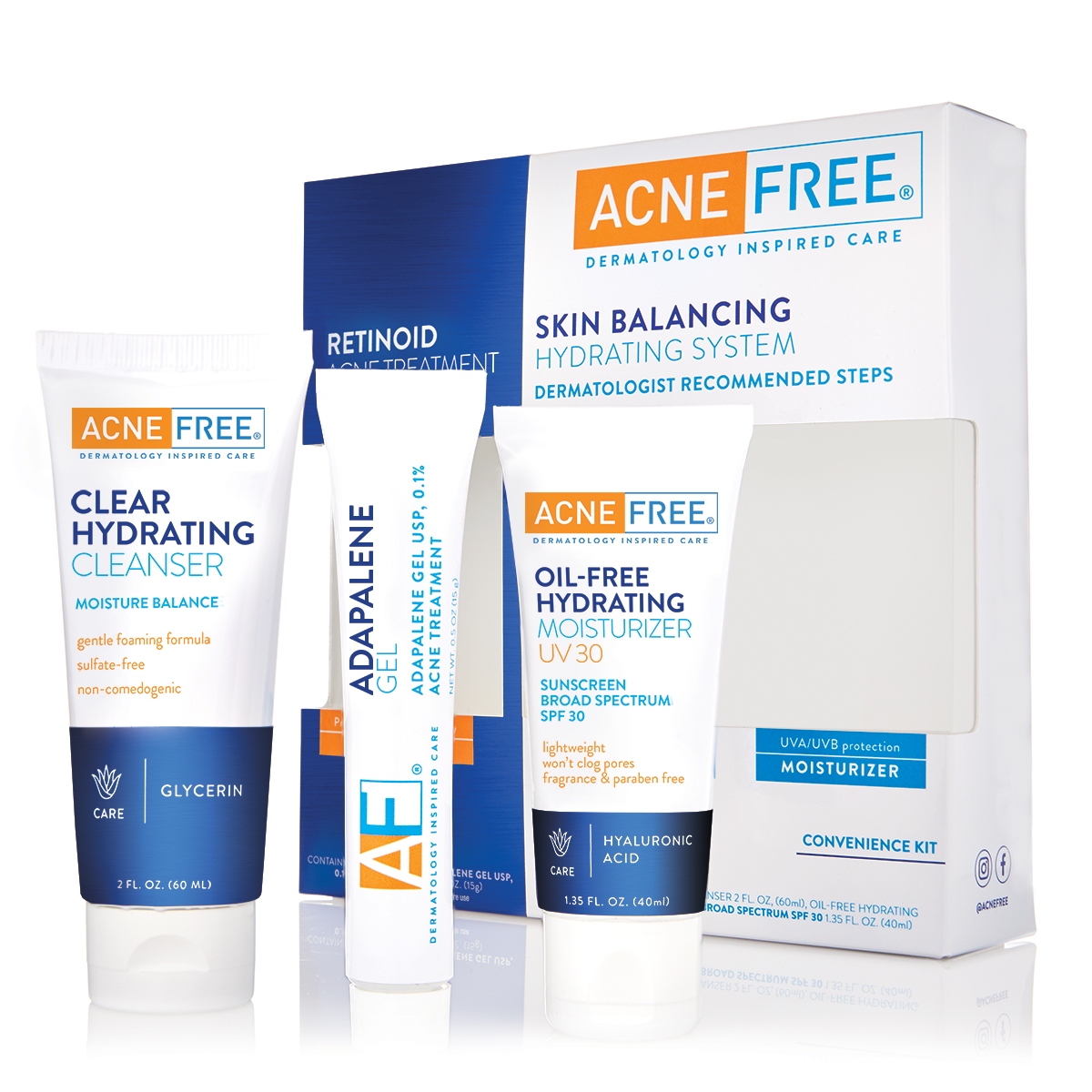 Acnefree Convenience Kit With Gentle Face Cleanser Spf