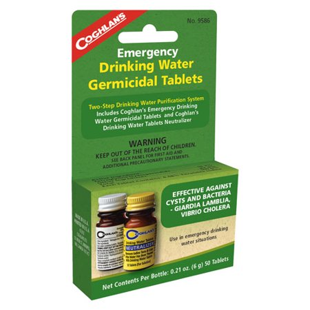 (Coghlans Drinking Water Treatment SKU: 9586 with Elite Tactical Cloth)
