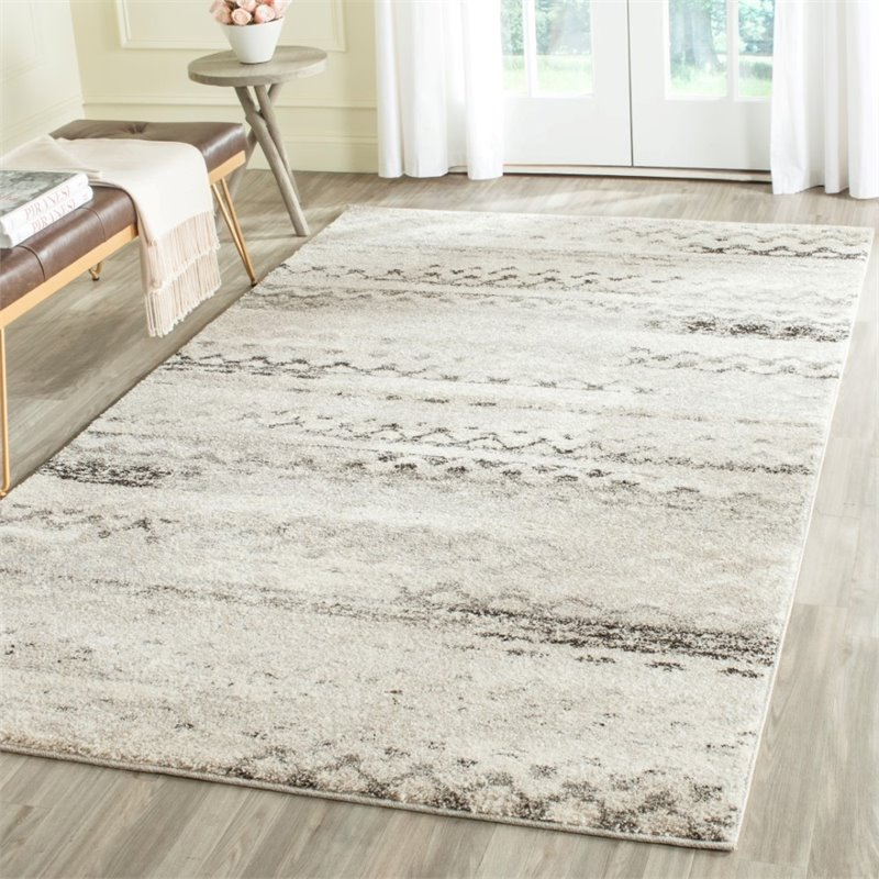 Safavieh Retro 6' Square Power Loomed Rug in Cream and Gray - image 6 of 10