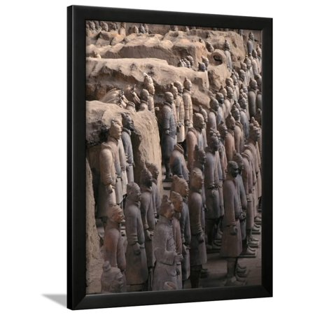 Terra Cotta Warriors at Emperor Qin Shihuangdi's Tomb, China Framed Print Wall Art By Keren Su