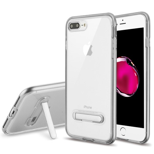 MUNDAZE Silver Candy Acrylic Magnetic Stand Case For Apple iPhone 7 PLUS