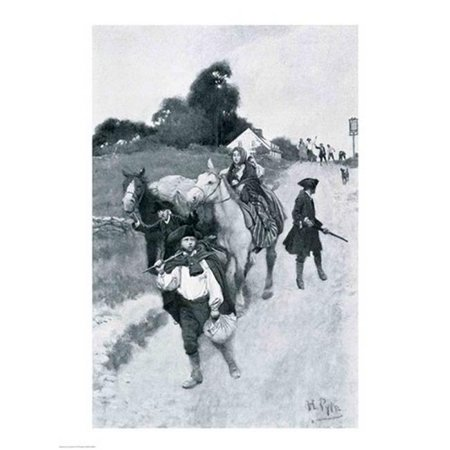 Posterazzi BALBAL108092 Tory Refugees on Their Way To Canada Illustration From Colonies & Nation Poster Print by Howard Pyle - 18 x 24 (Tory Canada)