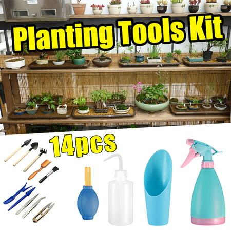 14 in 1 Garden Plants Tool Yard Lawn Bonsai Resin Planting Shovels Tools Gardener DIY Kit Spade Shovel Transplanting Set