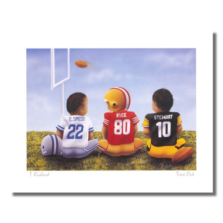 Football Time Out Emmitt Smith Jerry Rice Stewart Wall Picture 8x10 Art (Natures Best Photography Windland Smith Rice International Awards)