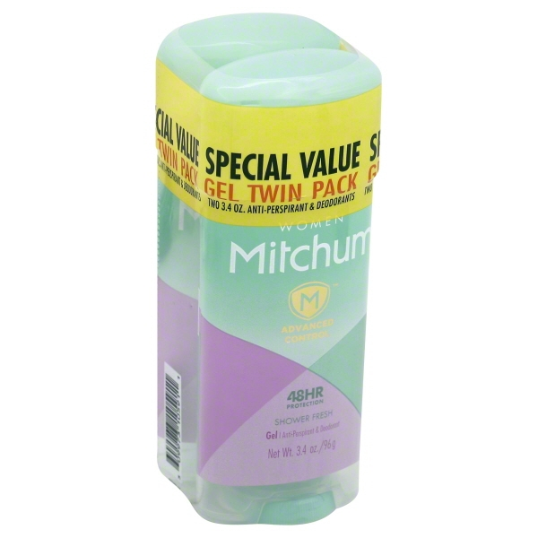 Mitchum Women Advanced Control Shower Fresh Anti-Perspirant & Deodorant Gel Twin Pack, 3.4 oz, 2 pk