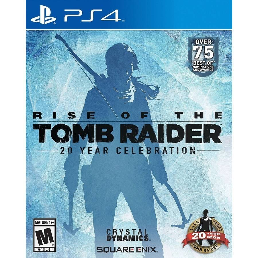 Rise Of Tomb Raider 20 Year Celebration Edition for PlayStation 4 by Crystal Dynamics