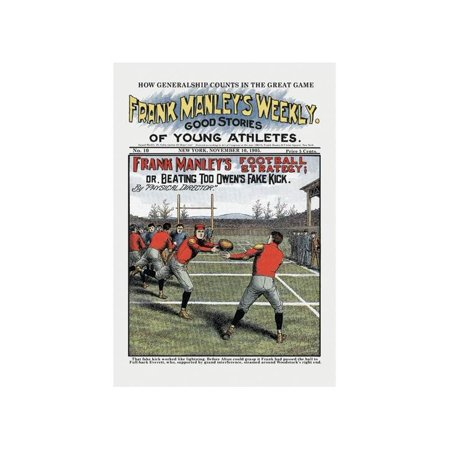 Frank Manley's Football Strategy Print (Unframed Paper Print 20x30)
