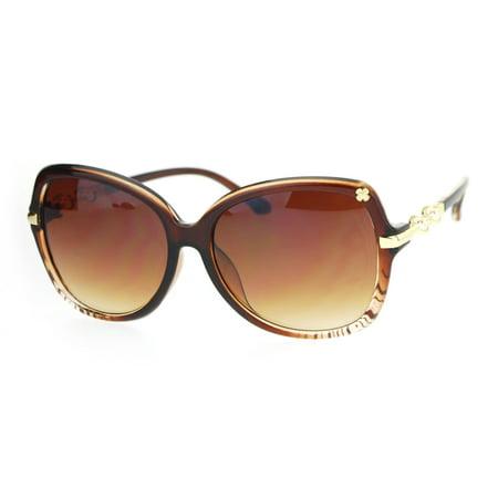 7cea2f91e11a SA106 - SA106 Womens Pearl Jewel Arm Luxury Diva Butterfly Designer  Sunglasses Brown Clear - Walmart.com