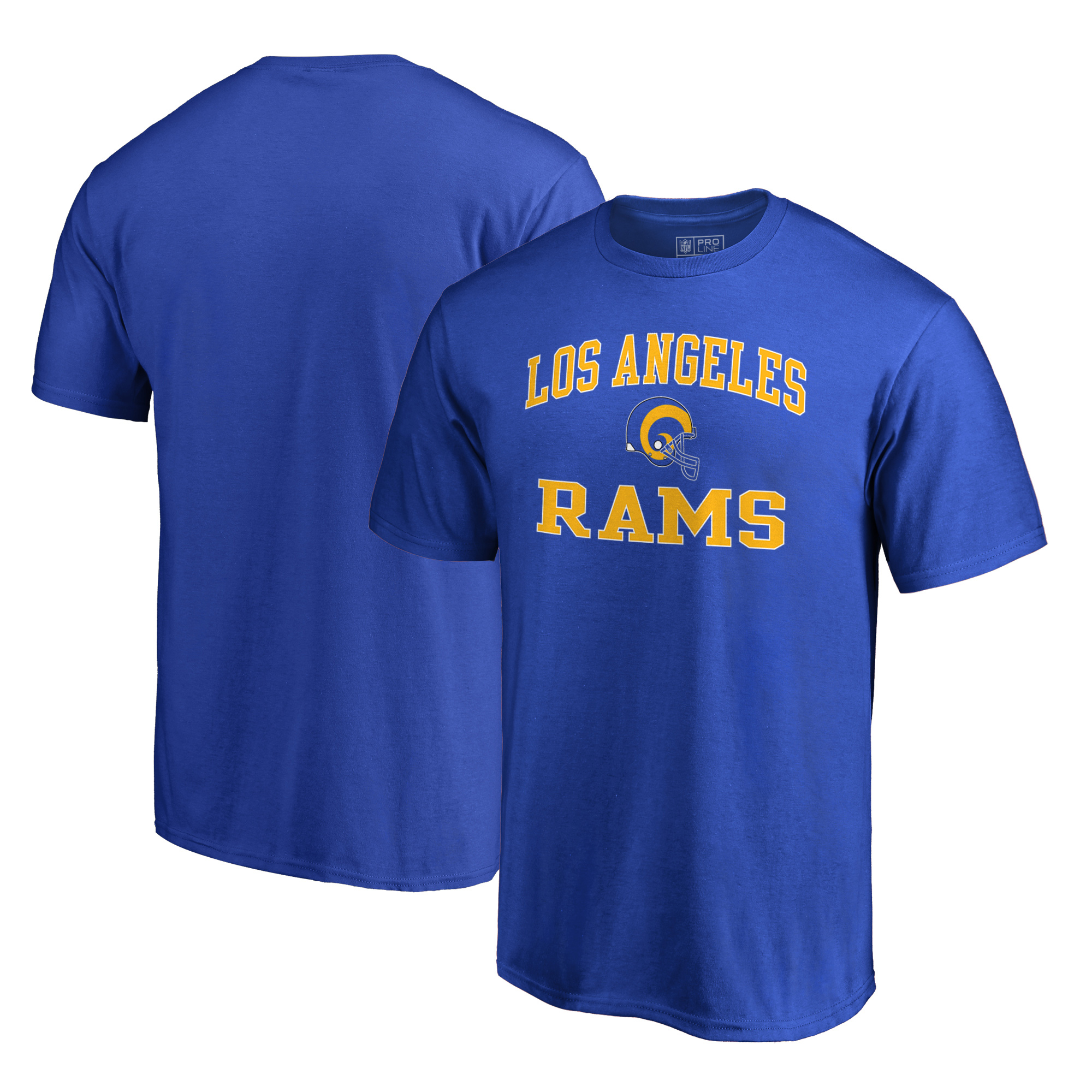Los Angeles Rams NFL Pro Line by Fanatics Branded Vintage Victory Arch T-Shirt - Royal