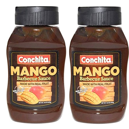 Mango BBQ Sauce by Conchita - Barbecue & Marinade 14.8 Oz (Pack of 2)