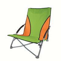 Stansport Low Profile Sand Beach Chair - Green/Orange
