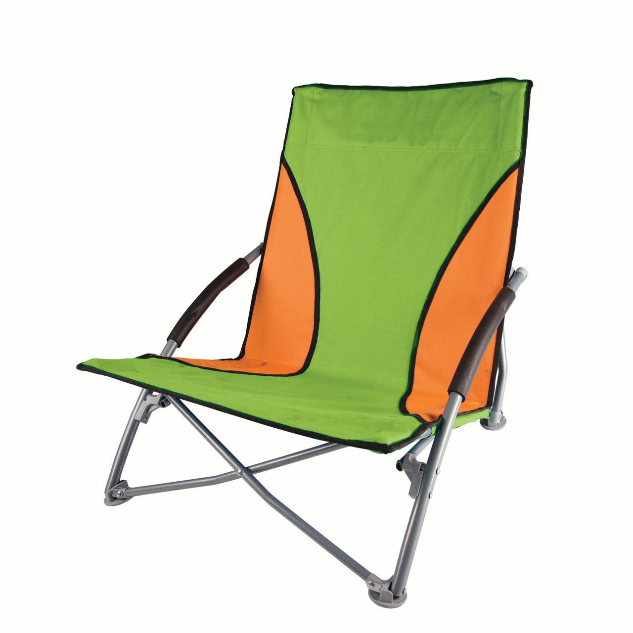 Stansport Low Profile Sand Chair - Green/Orange