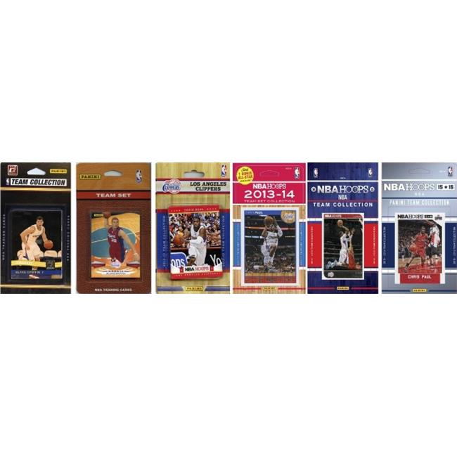 C&I Collectables NBA Los Angeles Clippers 6 Different Licensed Trading Card Team Sets