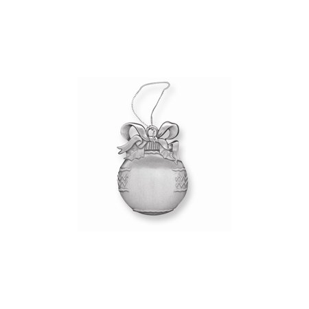 Engravable Christmas Ornaments (Pewter Christmas Bulb Ornament - Engravable)