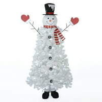 Holiday Time Snowman Tree with Cool White Lights, 6.5'