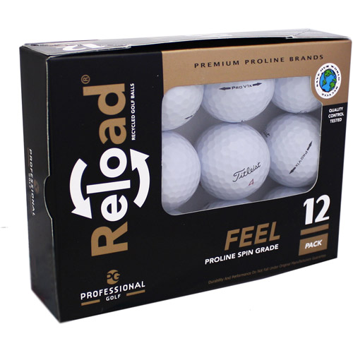 Reload Recycled Golf Balls 12pk Recycled PRO V1X 2012 Golf Balls