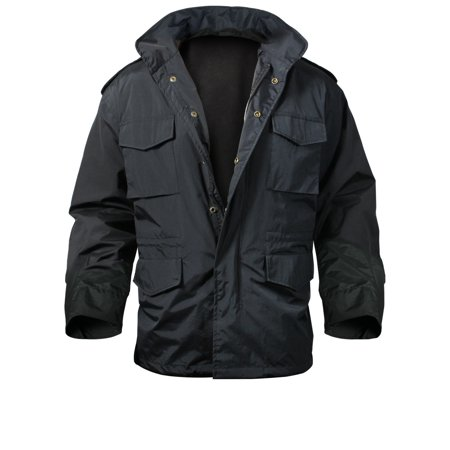 Black Nylon M-65 Storm Jacket, Small