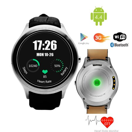 Indigi   Factory Unlocked  3G Bluetooth Sync Android 4 4 Kitkat Smartwatch And Phone   Wifi   Camera   Google Maps
