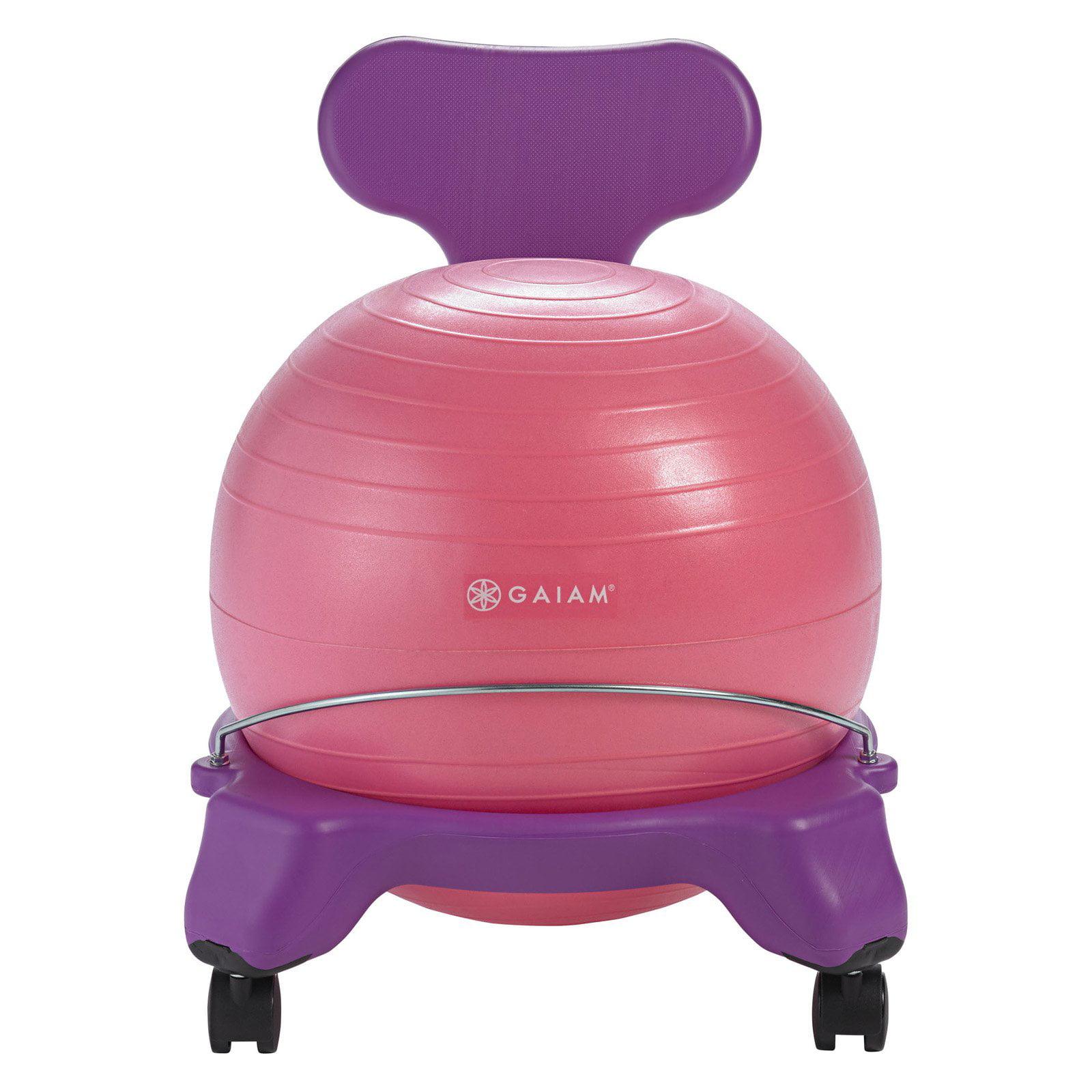 Gaiam Kids Balance Ball Chair, Purple/Pink