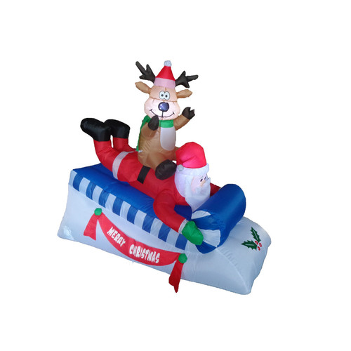 BZB Goods Santa and Reindeer on Sleigh Christmas Decoration