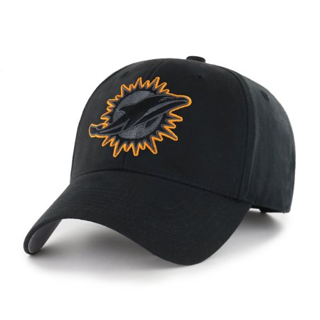 NFL Miami Dolphins Black Mass Basic Adjustable Cap/Hat by Fan Favorite - Dolphins Nfl