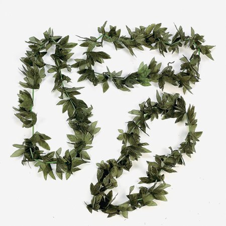 12 Tropical Fern Green Leaf Leis Hawaiian Luau Party, You get 12 leis By Fun Express](Party City Hawaii Hours)