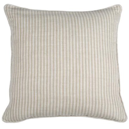 Kosas Home Tan and White Linen Square Striped Throw Pillow ...