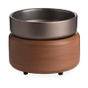 Pewter Walnut 2-In-1 Candle and Fragrance Warmer For Candles And Wax Melts from Candle Warmers Etc.