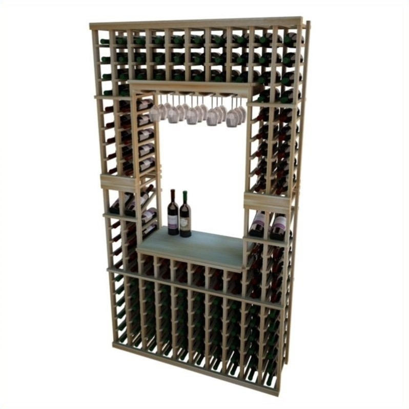 "Wine Cellar Innovations Vintner Series 84"" Hollowed Center Wine Rack Kit with Display Shelf"