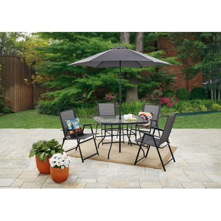 Mainstays Lakewood Heights Folding Patio Dining Set, Multiple Colors