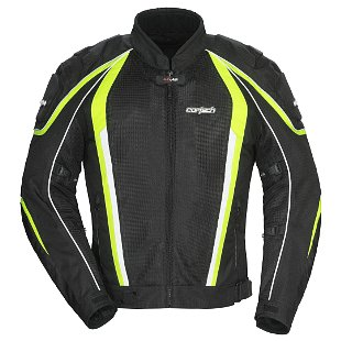 Cortech GX-Sport Air 4.0 Textile Jacket Black/Hi-Viz yellow