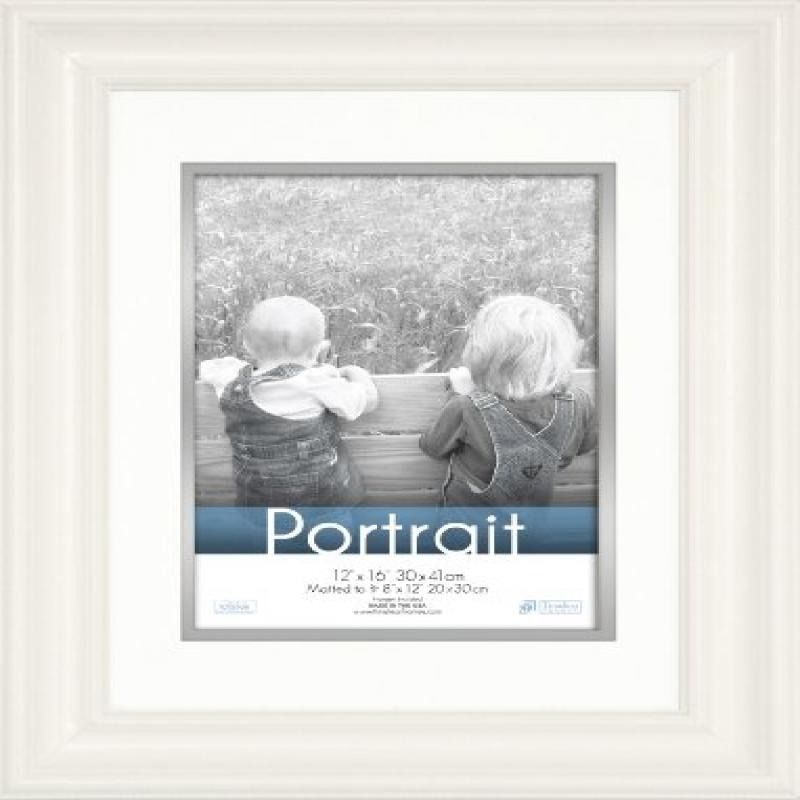 Timeless Frames 12x16 Inch Fits 8x12 Inch Photo Lauren Portrait Wall Frame, White by