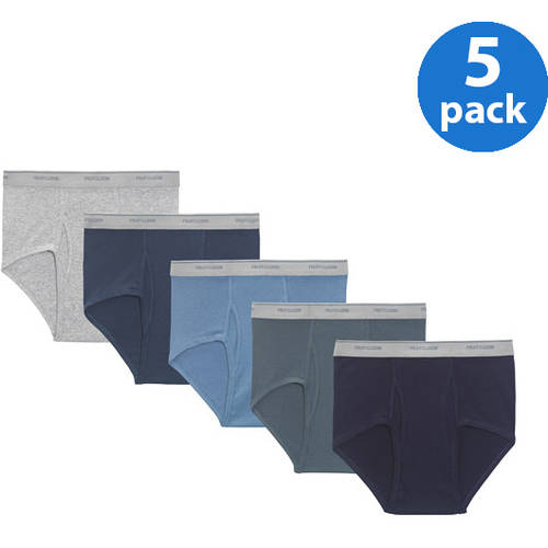 Fruit of the Loom Big Men's Assorted Color Briefs, 5-Pack by Fruit of the Loom
