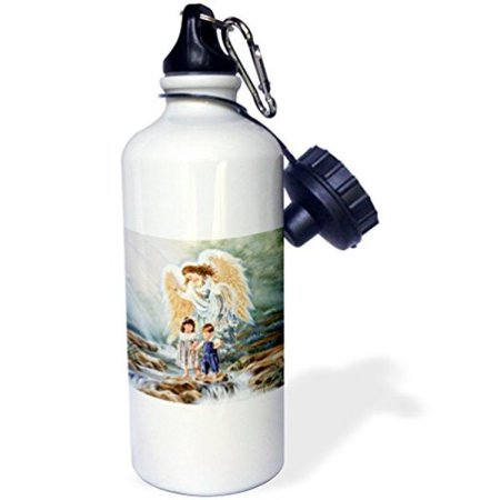 3dRose Guardian Angel, Sports Water Bottle, 21oz