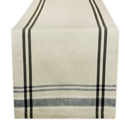 Design Imports French Stripe Table Runner, 108