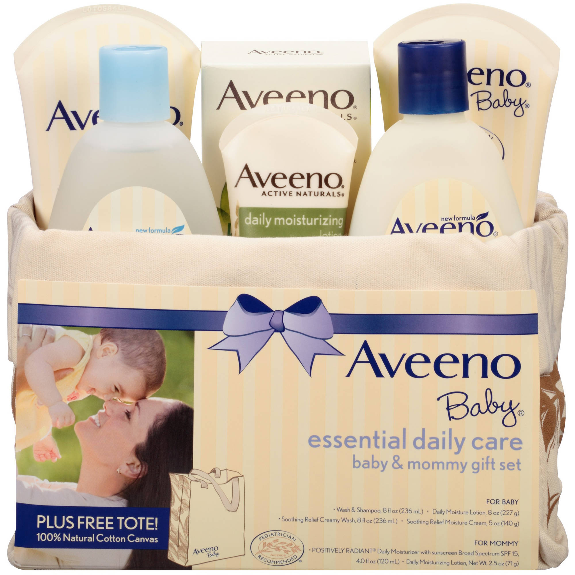 Aveeno Baby Essential Daily Care Baby & Mommy Gift Set, 7 pc
