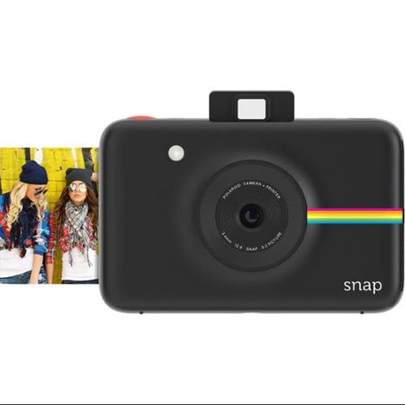 Polaroid Snap Instant Camera (Black) w/ ZINK Zero Ink Printing ...